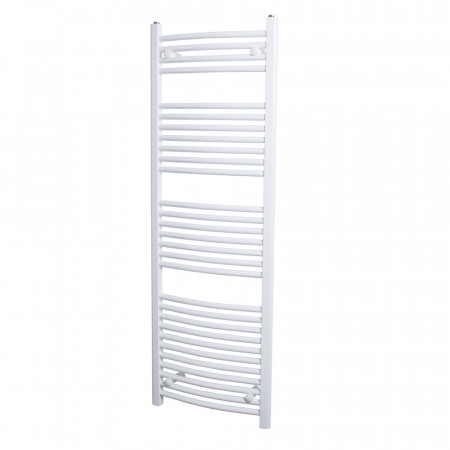 Marco 1500 x 500 Curved White Heated Towel Rail