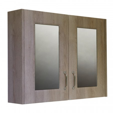 Windsor Traditional Oak 800 2 Door Mirror Cabinet