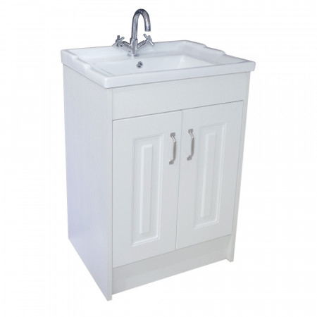 Windsor Traditional White 600 2 Door Unit & Basin