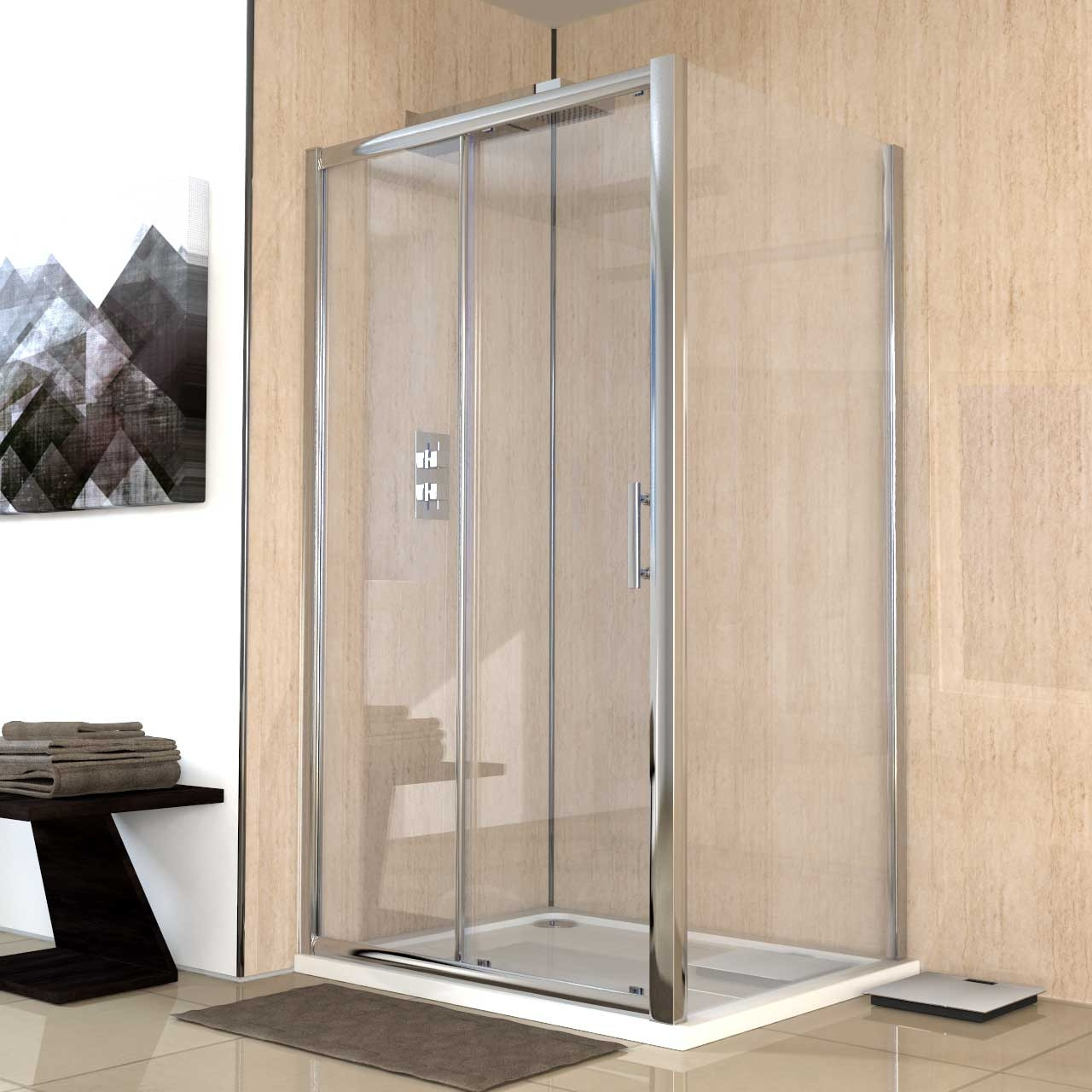 Series 6 1100mm x 900mm Sliding Door Shower Enclosure