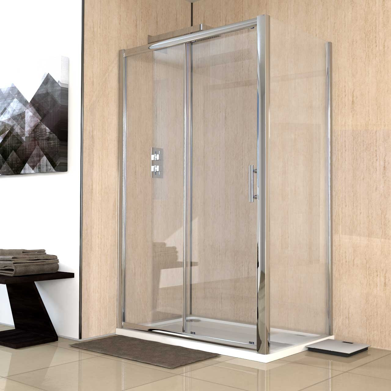 Series 8 1200 x 760 Sliding Door Enclosure