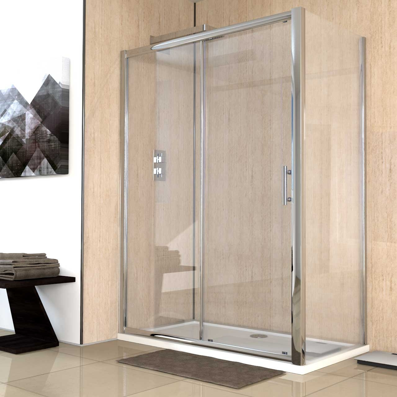 Series 8 1400mm x 760mm Sliding Door Shower Enclosure