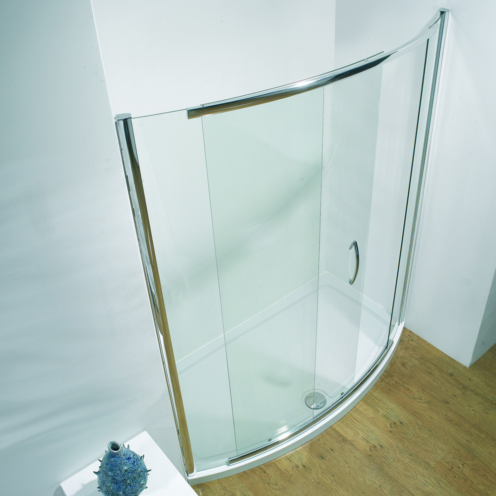 Kudos Infinite Semi-Frameless Bow Slider Side Access 1700mm Silver