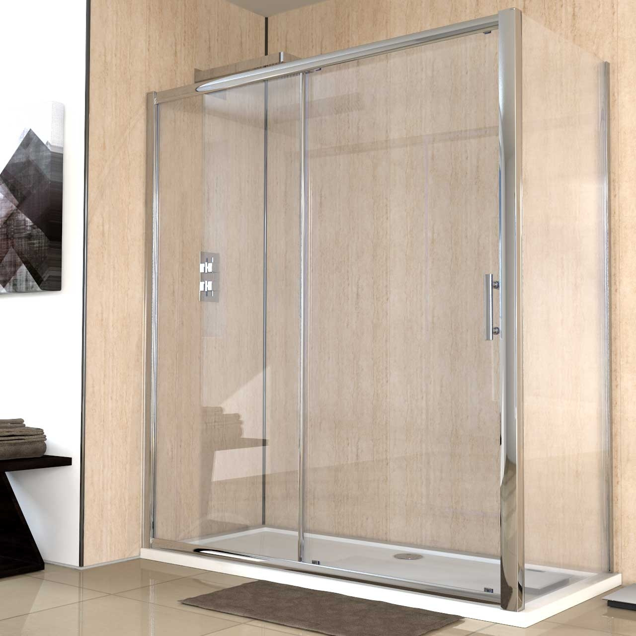 Series 8 1700mm x 760mm Sliding Door Shower Enclosure