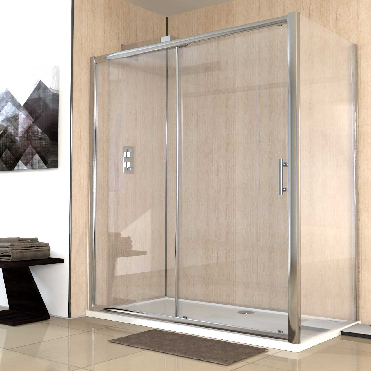 Series 6 1700mm x 900mm Sliding Door Shower Enclosure