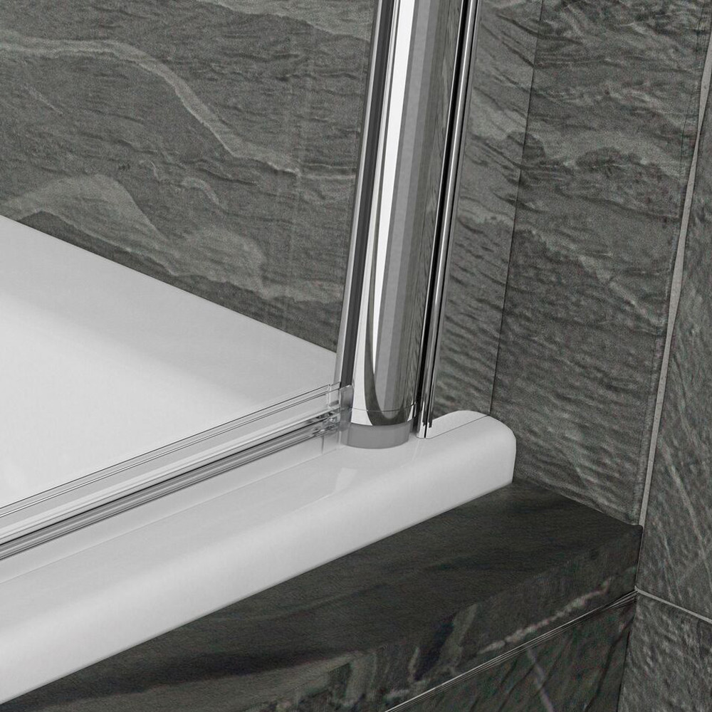 Kudos Inspire Bath Screen with Handle Silver 2