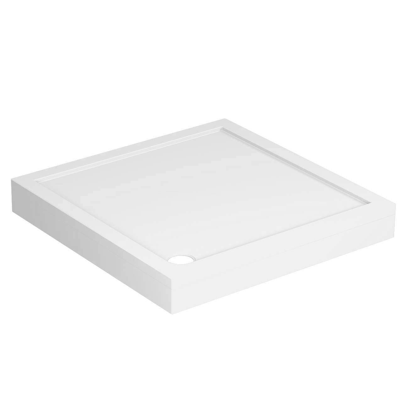 40mm Pearlstone 1000 x 1000 Square Shower Tray & Plinth