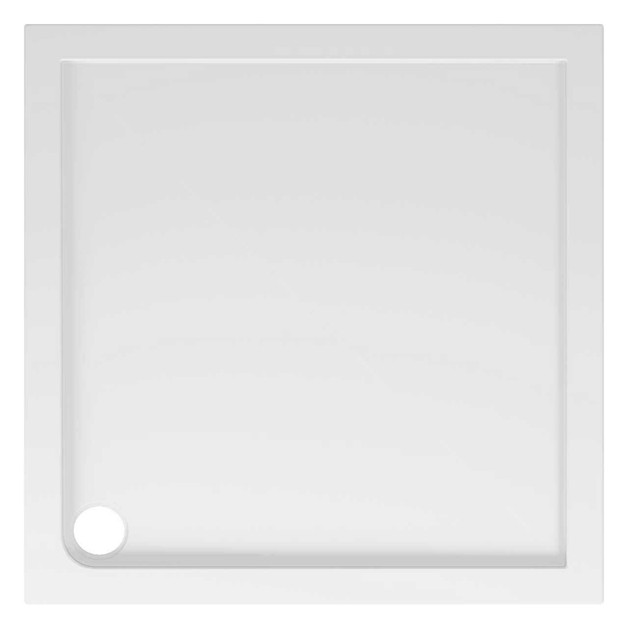 40mm Pearlstone 1000 x 1000 Square Shower Tray