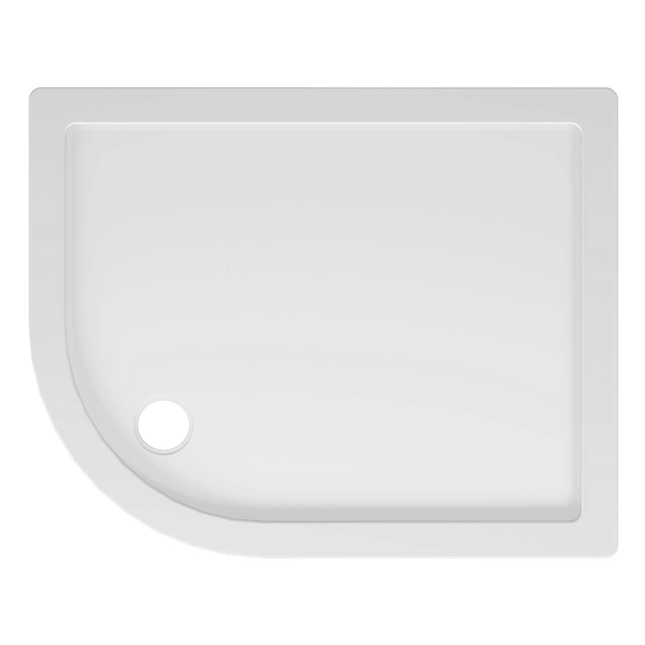 40mm Pearlstone 1000 x 800 Left Hand Offset Quadrant Shower Tray & Plinth