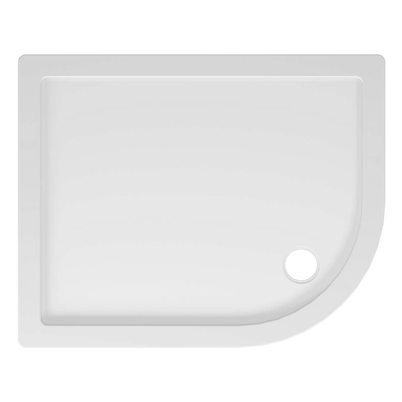 40mm Pearlstone 1000 x 800 Right Hand Offset Quadrant Shower Tray