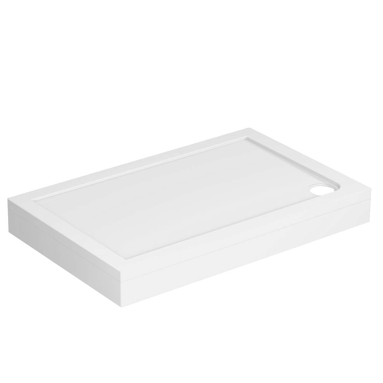 40mm Pearlstone 1100 x 700 Rectangular Shower Tray & Plinth