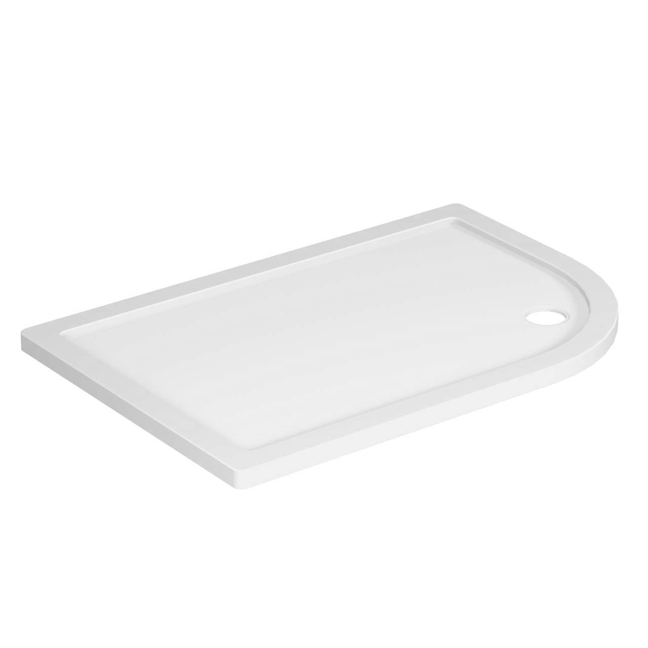 40mm Pearlstone 1200 x 800 Right Hand Offset Quadrant Shower Tray
