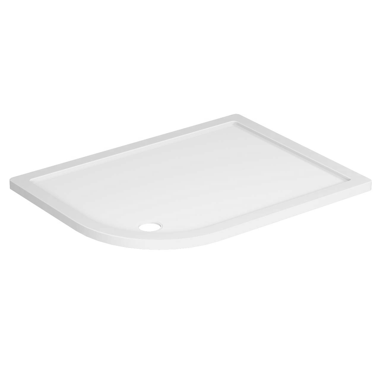 40mm Pearlstone 1200 x 900 Left Hand Offset Quadrant Shower Tray