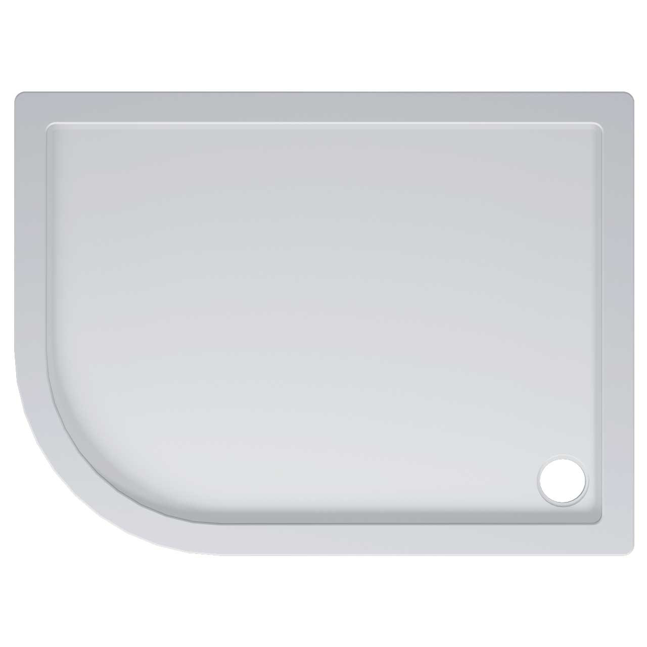 40mm Pearlstone 1200 x 900 Left Hand Offset Quadrant Shower Tray & Plinth Top View