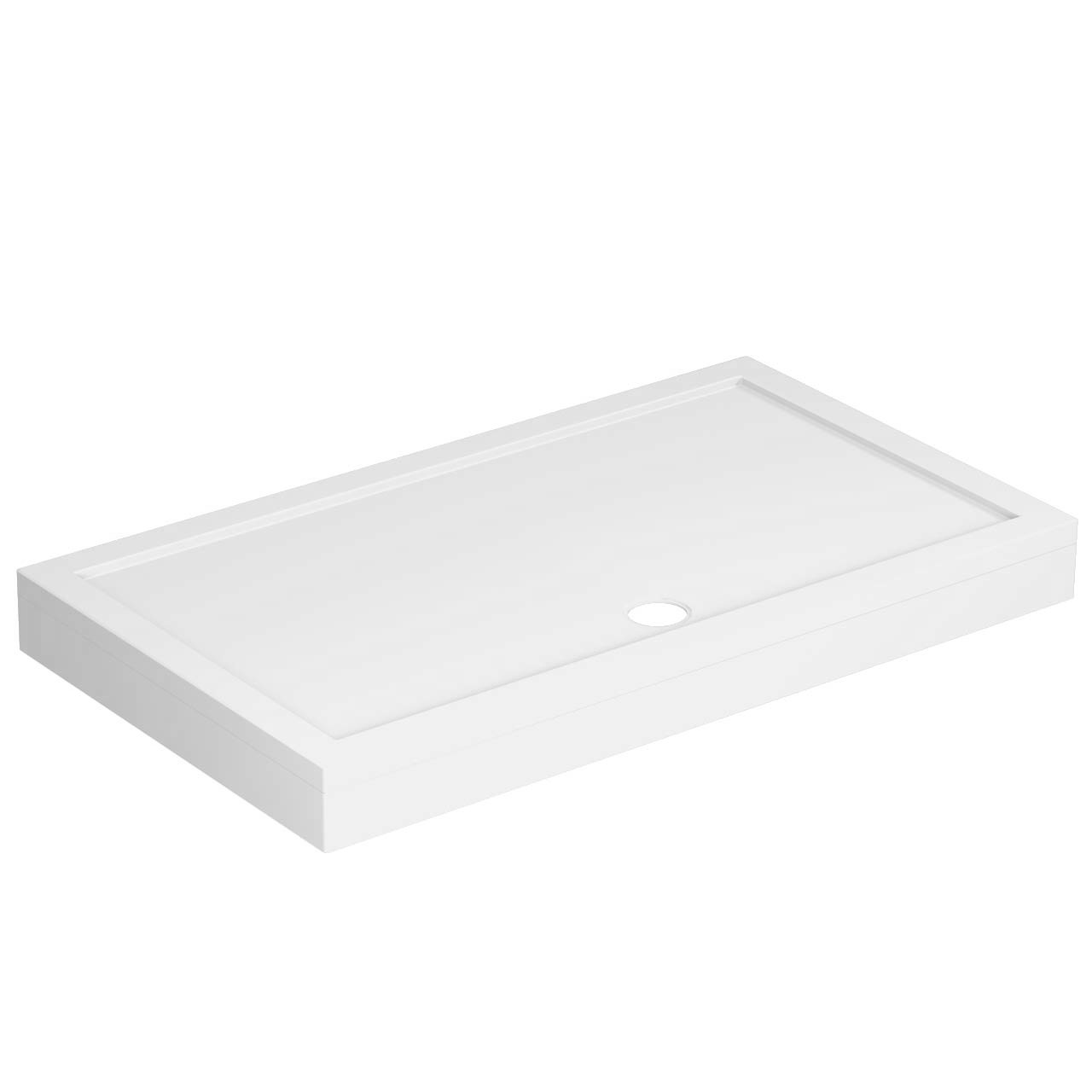 40mm Pearlstone 1400 x 800 Rectangular Shower Tray & Plinth