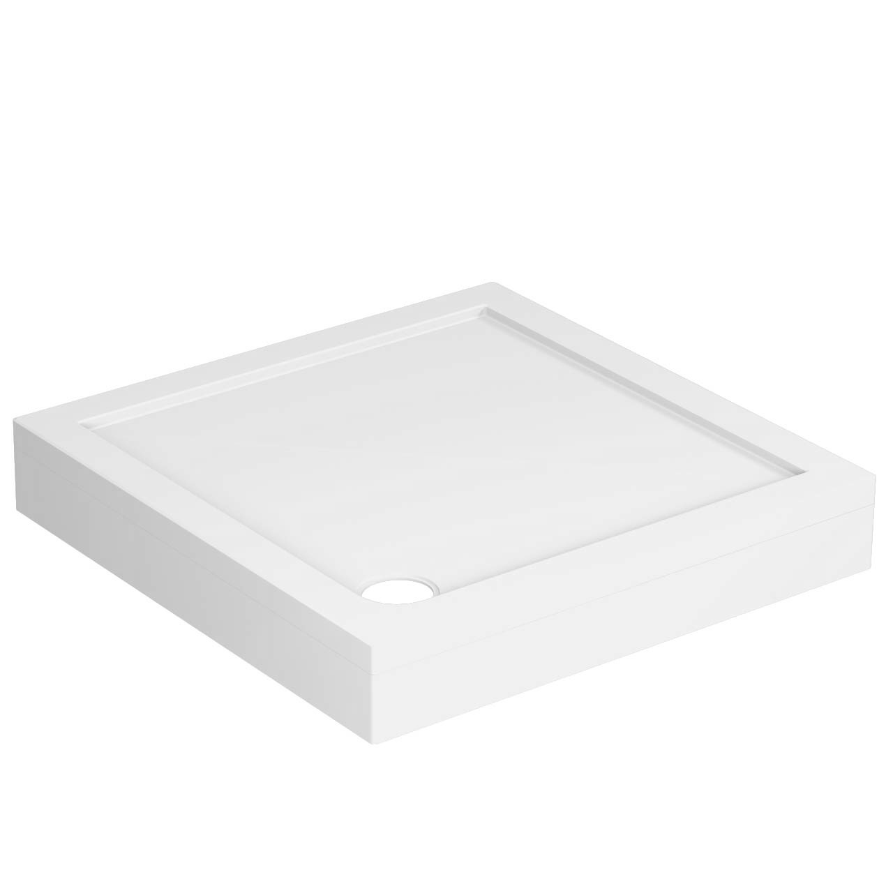 40mm Pearlstone 800 x 800 Square Shower Tray & Plinth