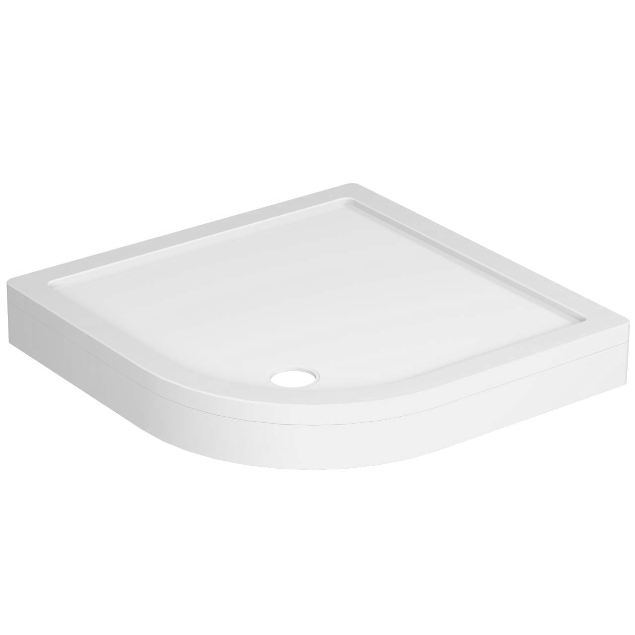 40mm Pearlstone 900 x 900 Quadrant Shower Tray & Plinth