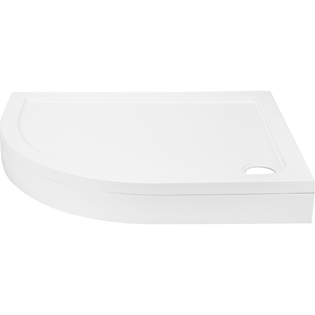 40mm Pearlstone 1200 x 800 Left Hand Offset Quadrant Shower Tray & Plinth