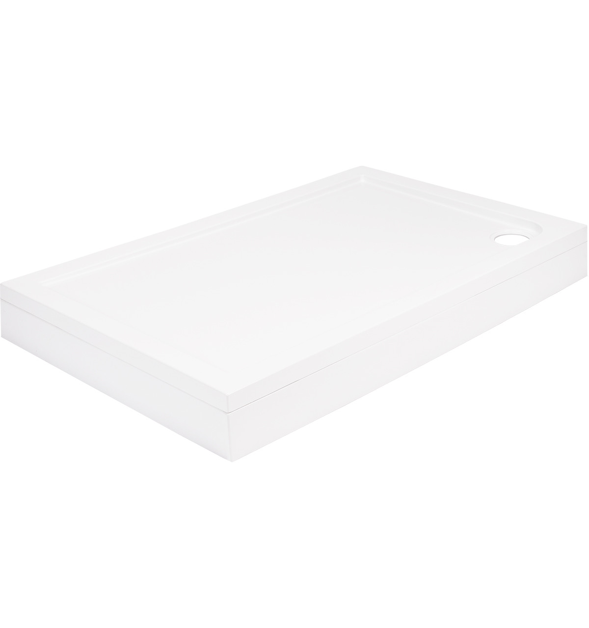 40mm Pearlstone 1000 x 800 Rectangular Shower Tray & Plinth