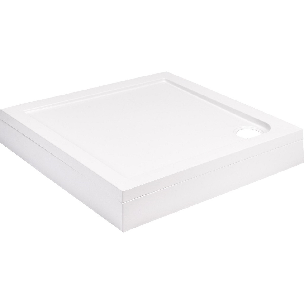 40mm Pearlstone 700 x 700 Square Shower Tray & Plinth