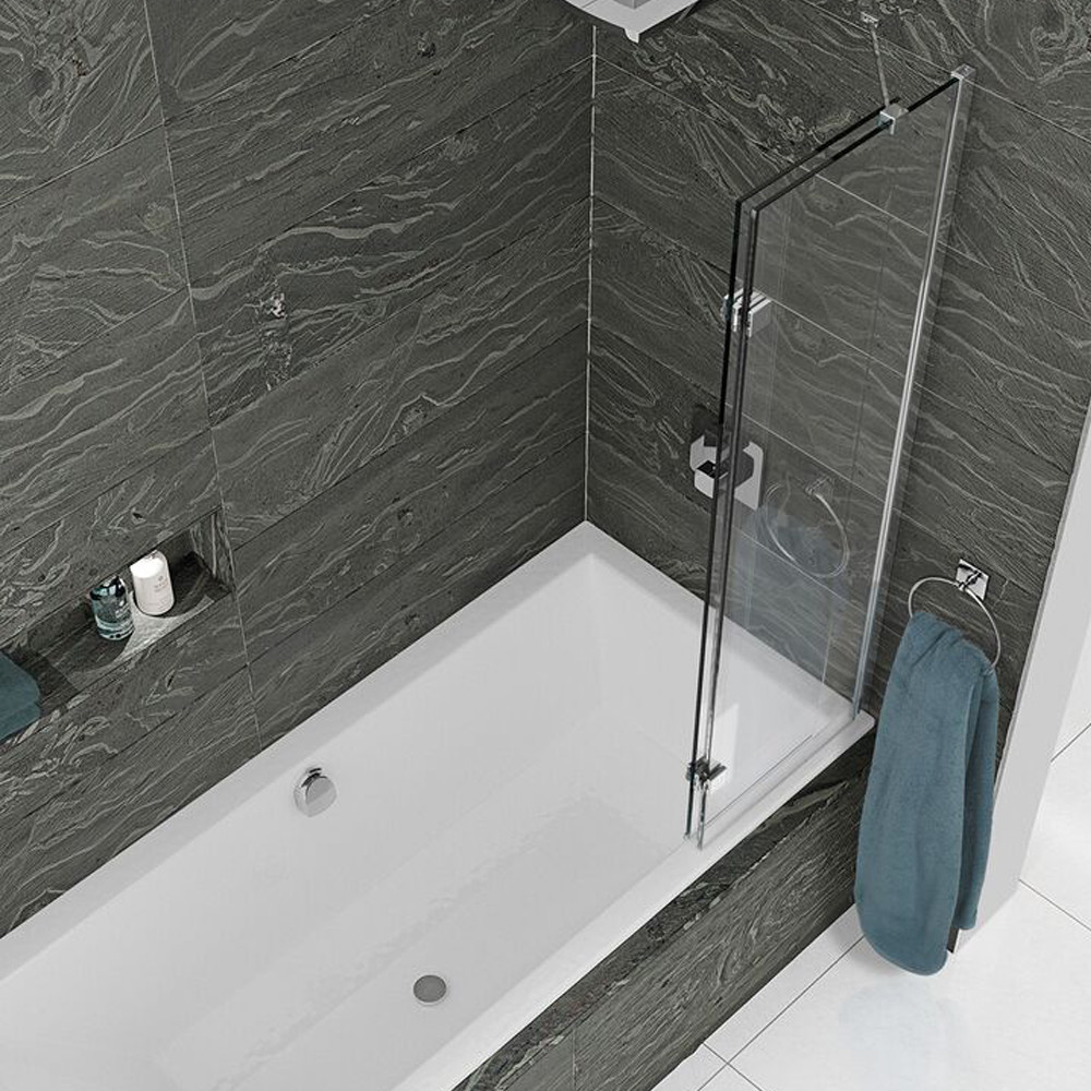 Kudos Inspire Two Panel Infold Shower Screen Right Hand Closed