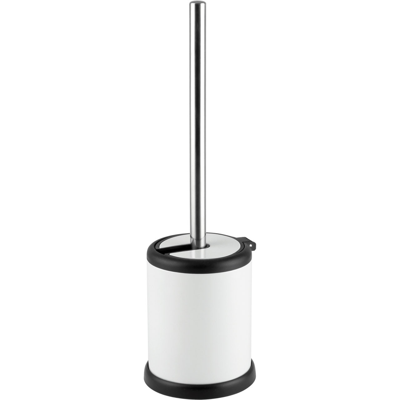 Aero Collection White Toilet Brush & Holder