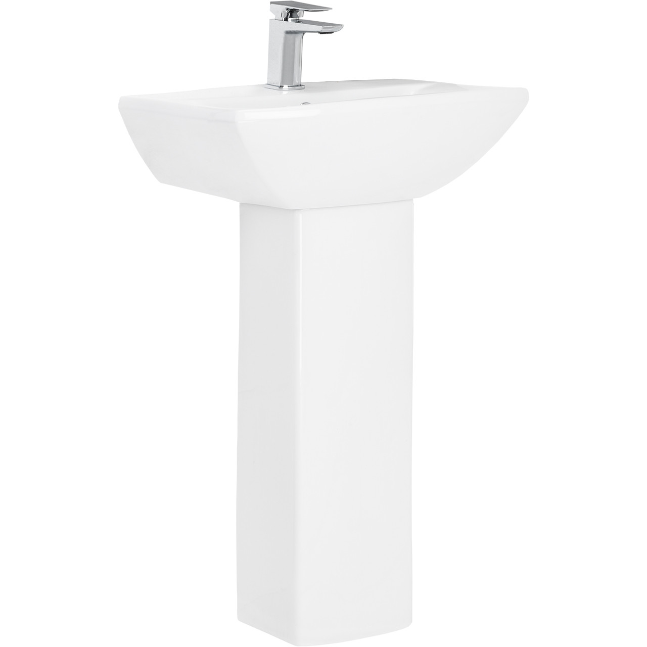 Ailsa 500mm Basin with 1 Tap Hole and Full Pedestal