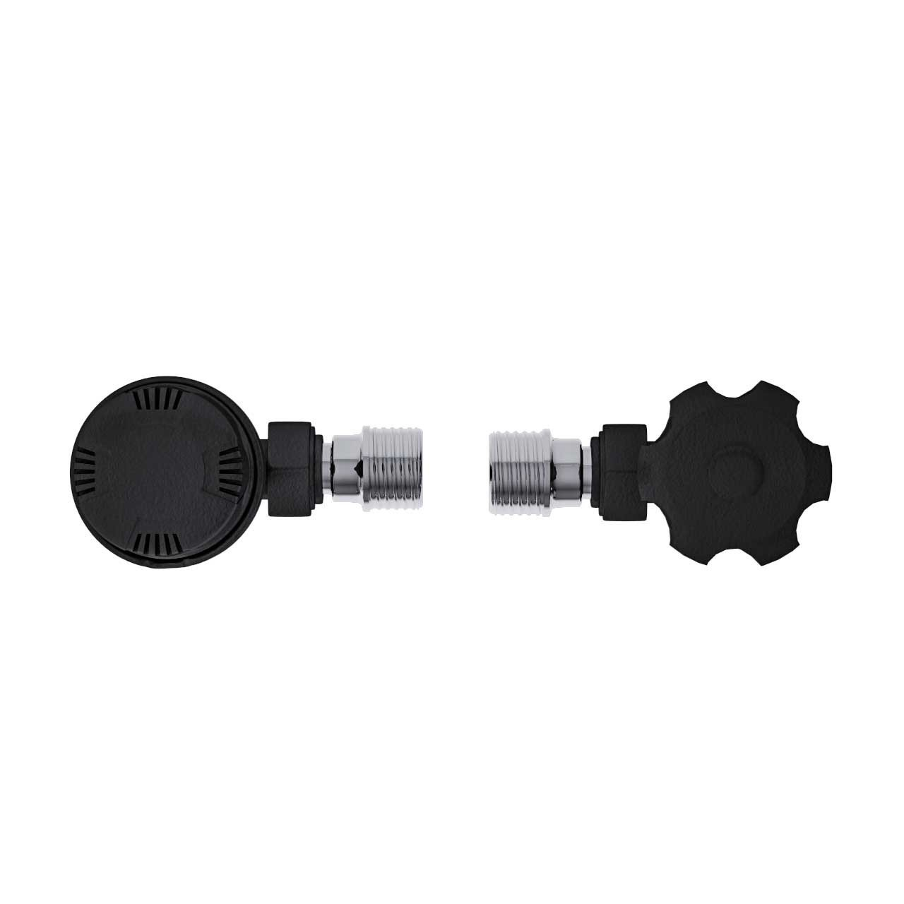 Anthracite Thermostatic Angled Radiator Valves