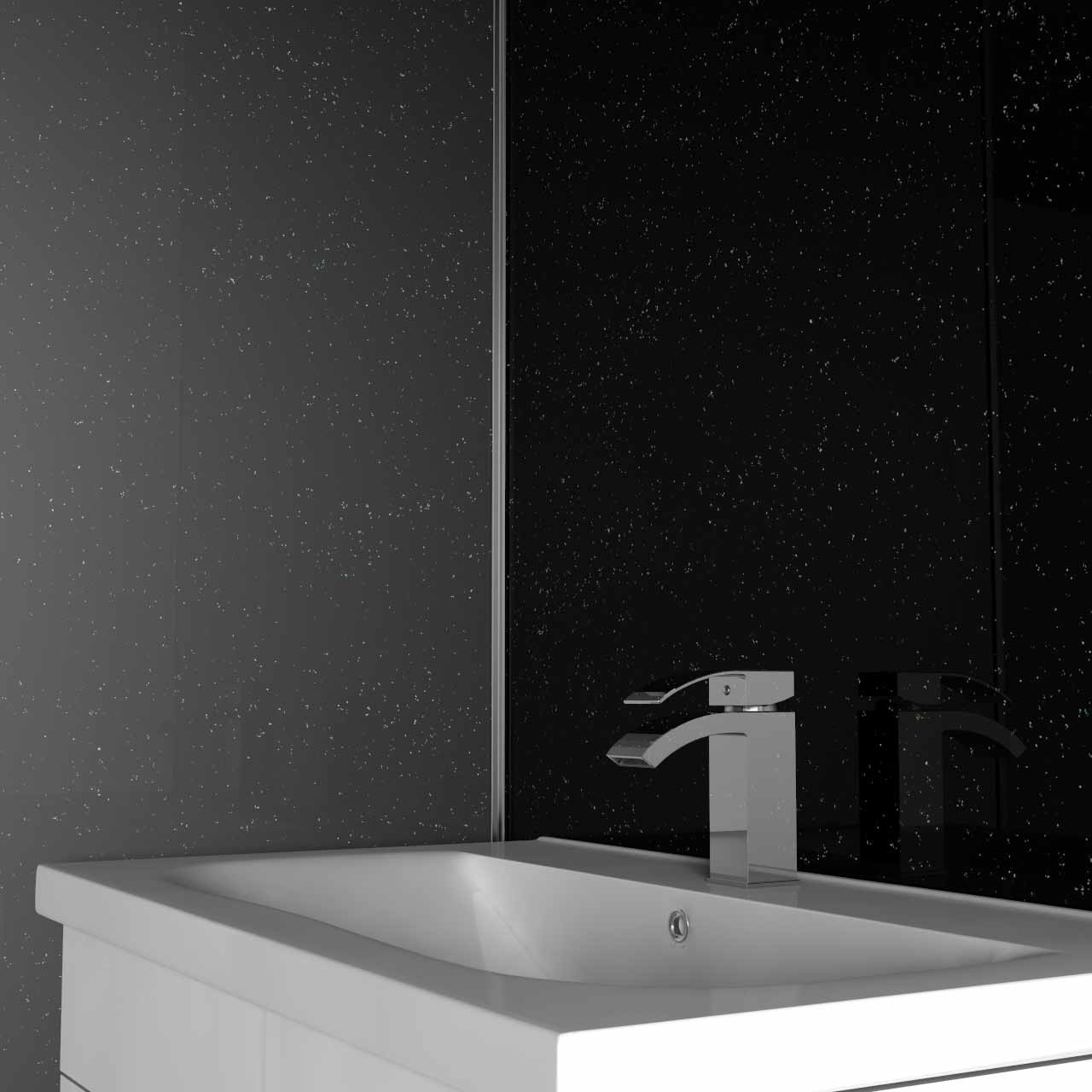 Black Galaxy Wall Panel 1000mm x 2400mm x 10mm