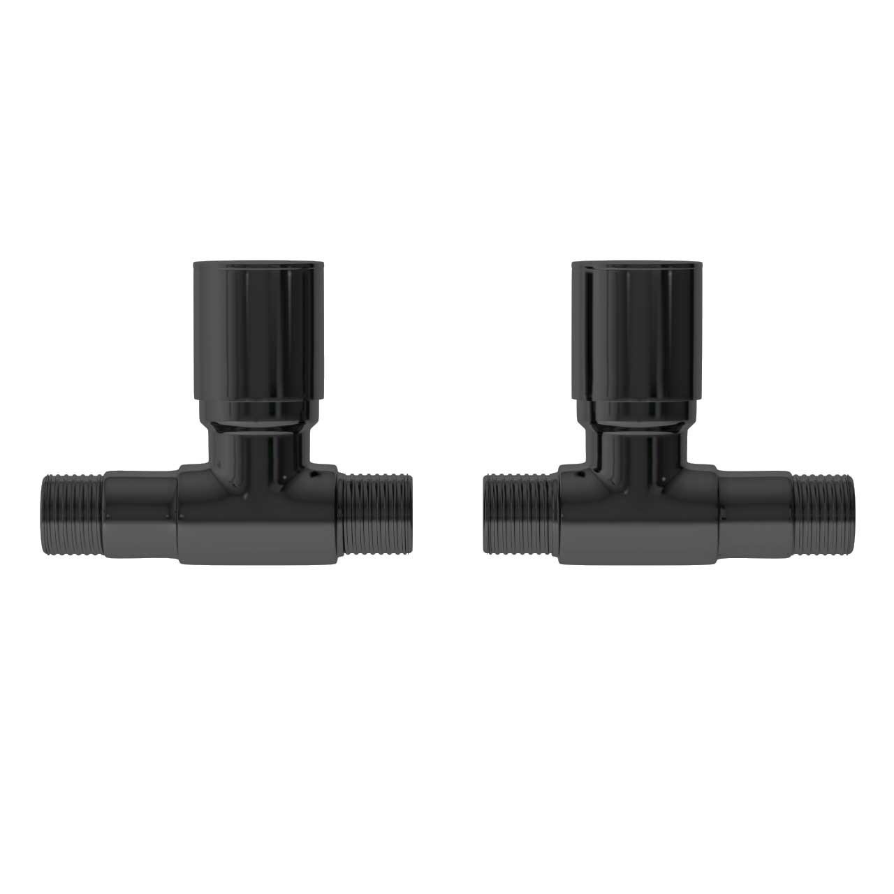 Black Nickel Round Straight Radiator Valves