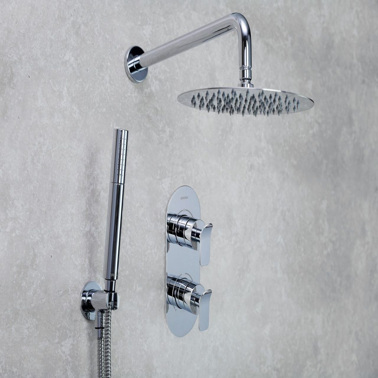Bristan Alp Chrome Complete Thermostatic Shower Pack - ALP-SHWR-PK