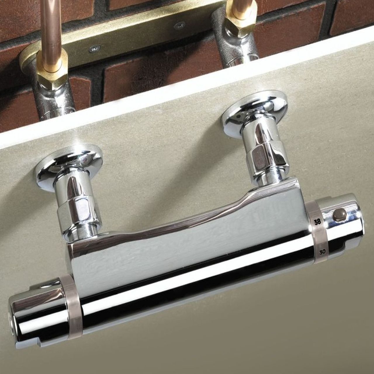 Bristan Chrome Wall Mounted Pipework Fixings Wmnt9 C