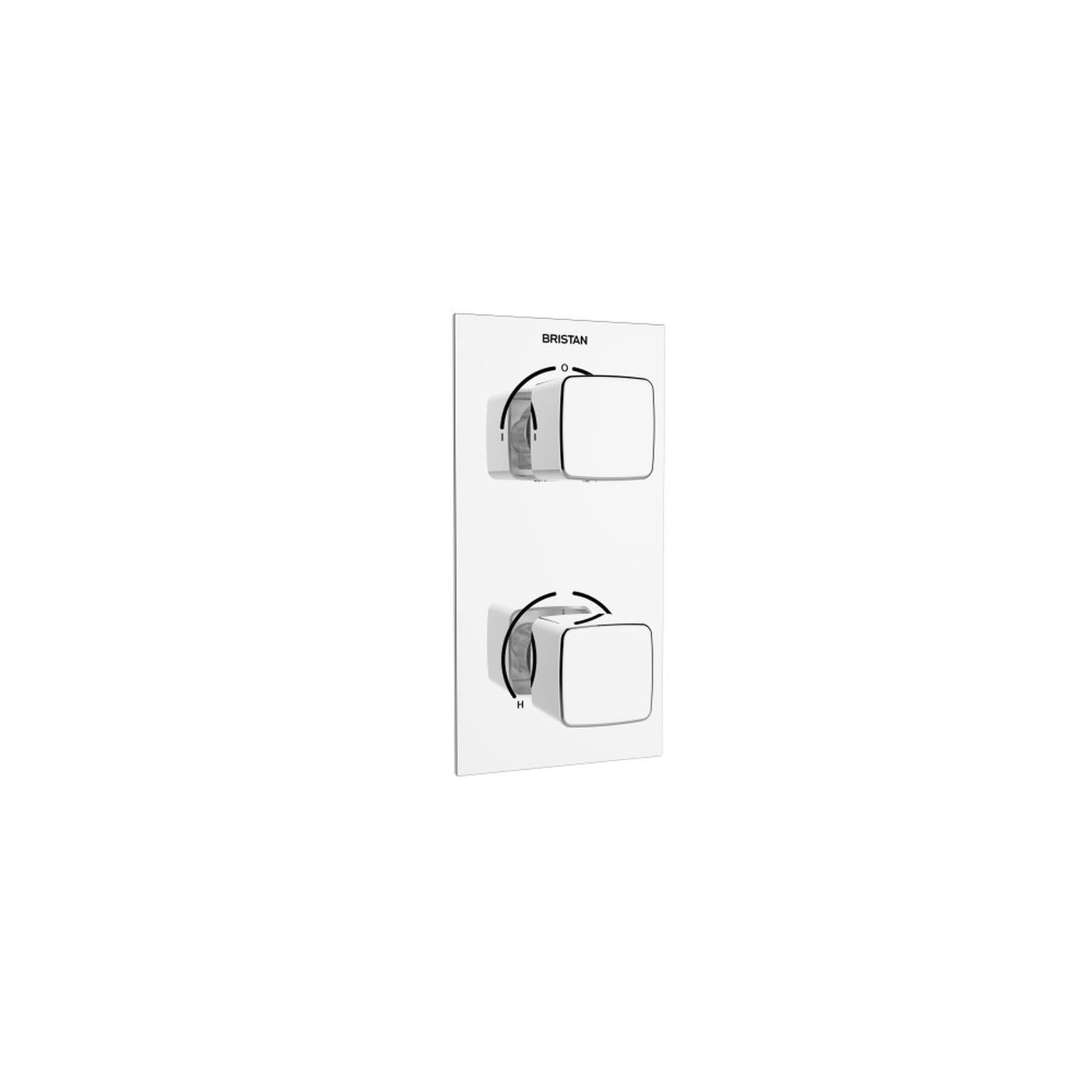 Bristan Cobalt Chrome Recessed Thermostatic Dual Control Shower Valve with Integral Diverter - COB-SHCDIV-C