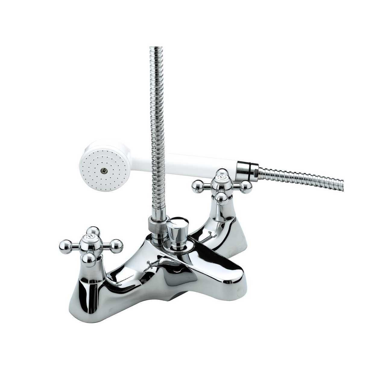 Bristan Regency Chrome Deck Mounted Bath Shower Mixer Tap - R-DBSM-C