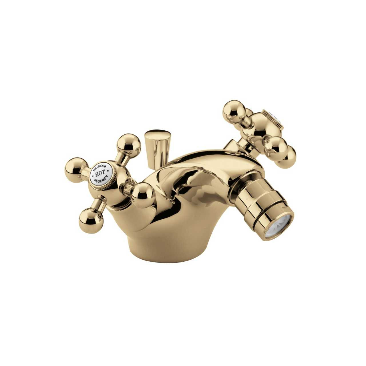 Bristan Regency Gold Mono Bidet Mixer Tap with Pop Up Waste - R-BID-G