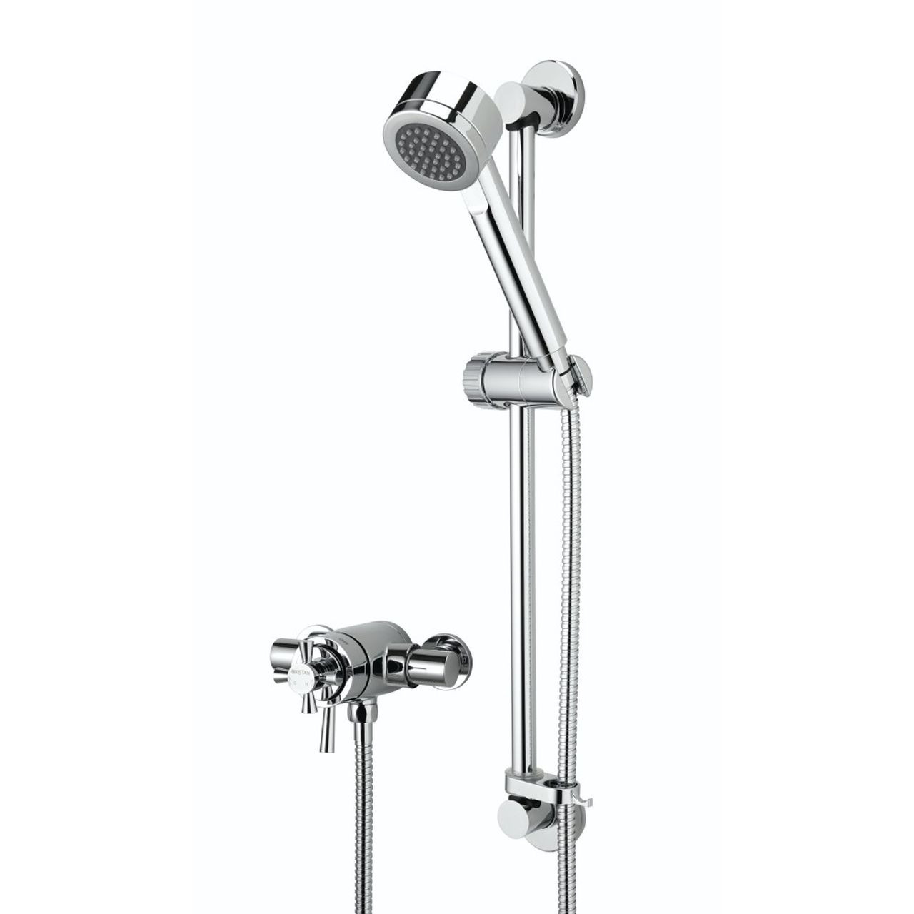 Bristan Rio Chrome Surface Mounted Shower Valve with Adjustable Riser - RO2-SHXAR-C