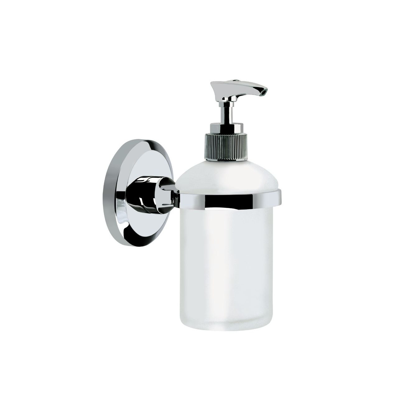 Bristan Solo Chrome Frosted Gl Wall Mounted Liquid Soap Dispenser So C