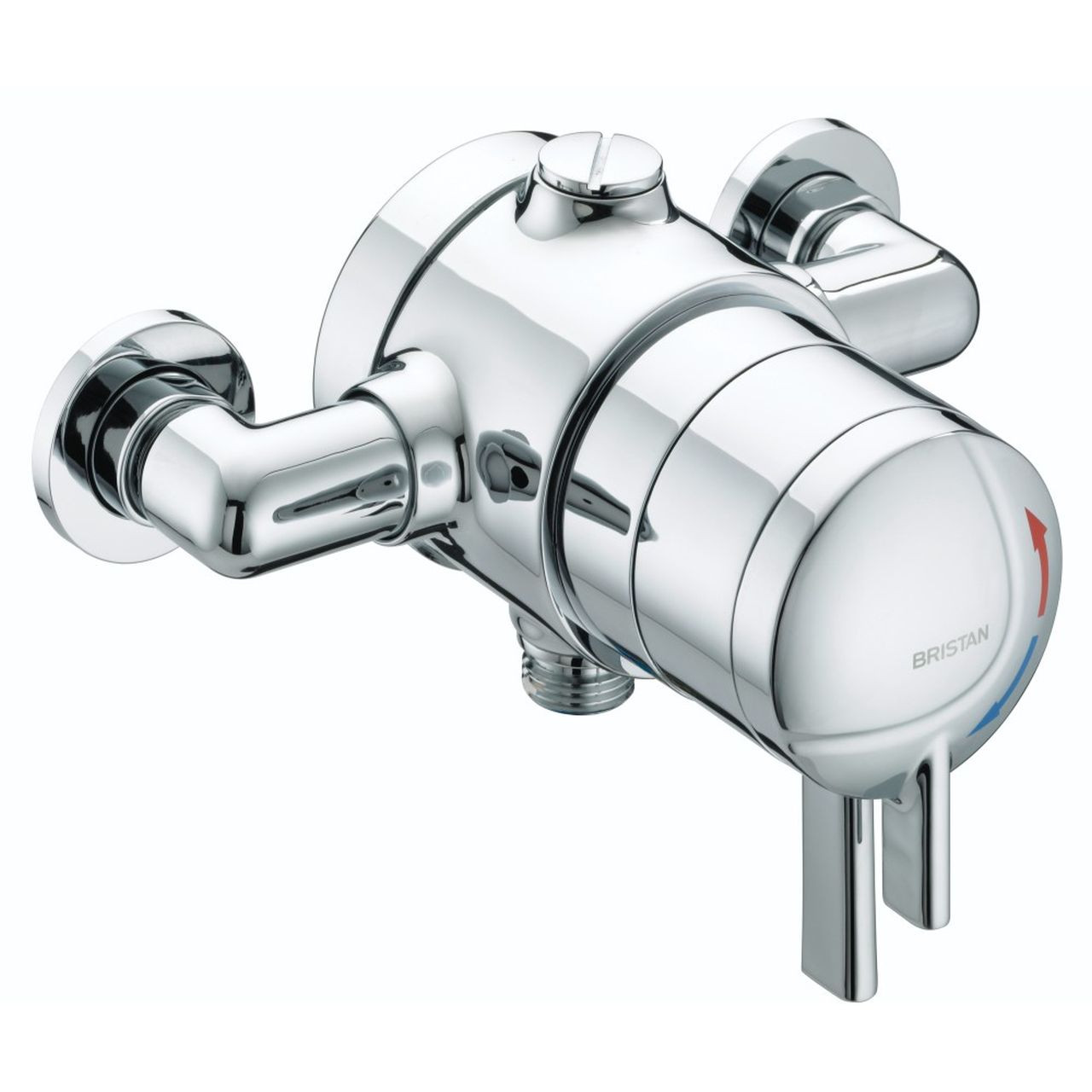 Bristan Stratus Chrome Thermostatic Exposed Shower Valve with Lever Handle - STR-TS1875-EDC-C