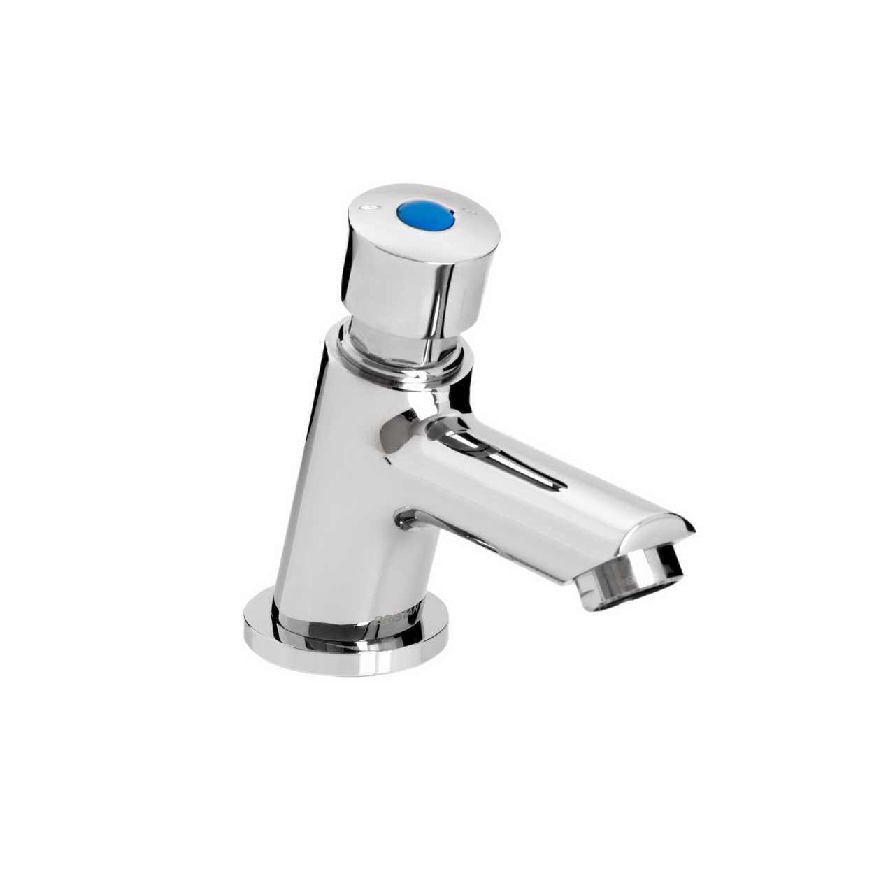 Bristan Timed Flow Chrome Soft Touch Flow Regulated Single Luxury Basin Tap with Hot and Cold Indices - Z2-LUX-1/2-C