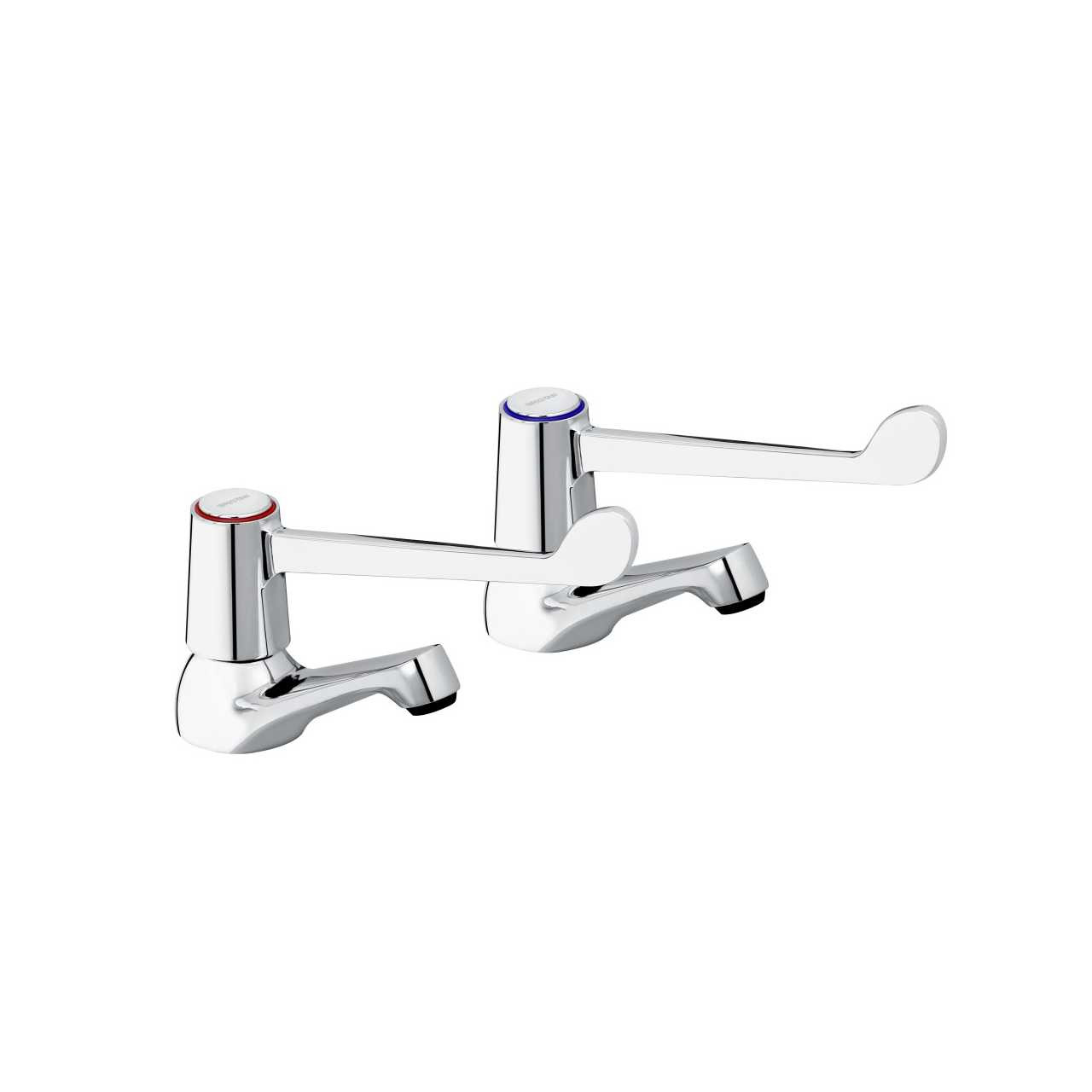 Bristan Value Lever Chrome Basin Taps with 6 Inch Levers and Ceramic Disc Valves - VAL-1/2-C-6-CD