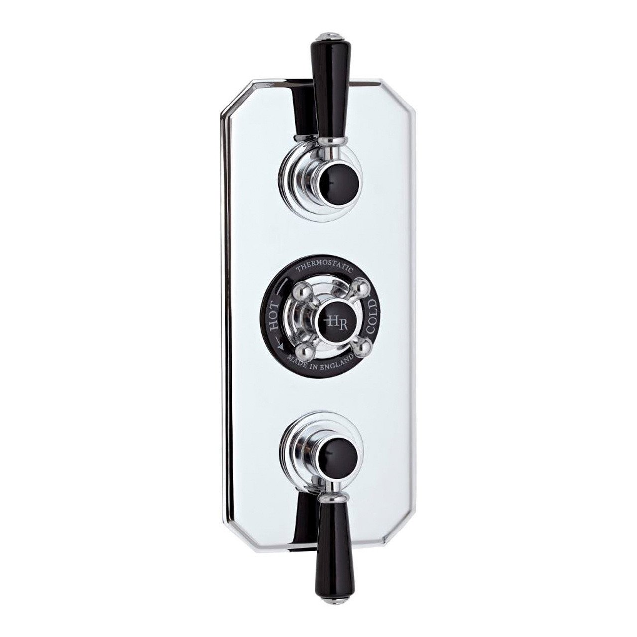 Hudson Reed Topaz Black Triple Concealed Shower Valve - BTSVT003