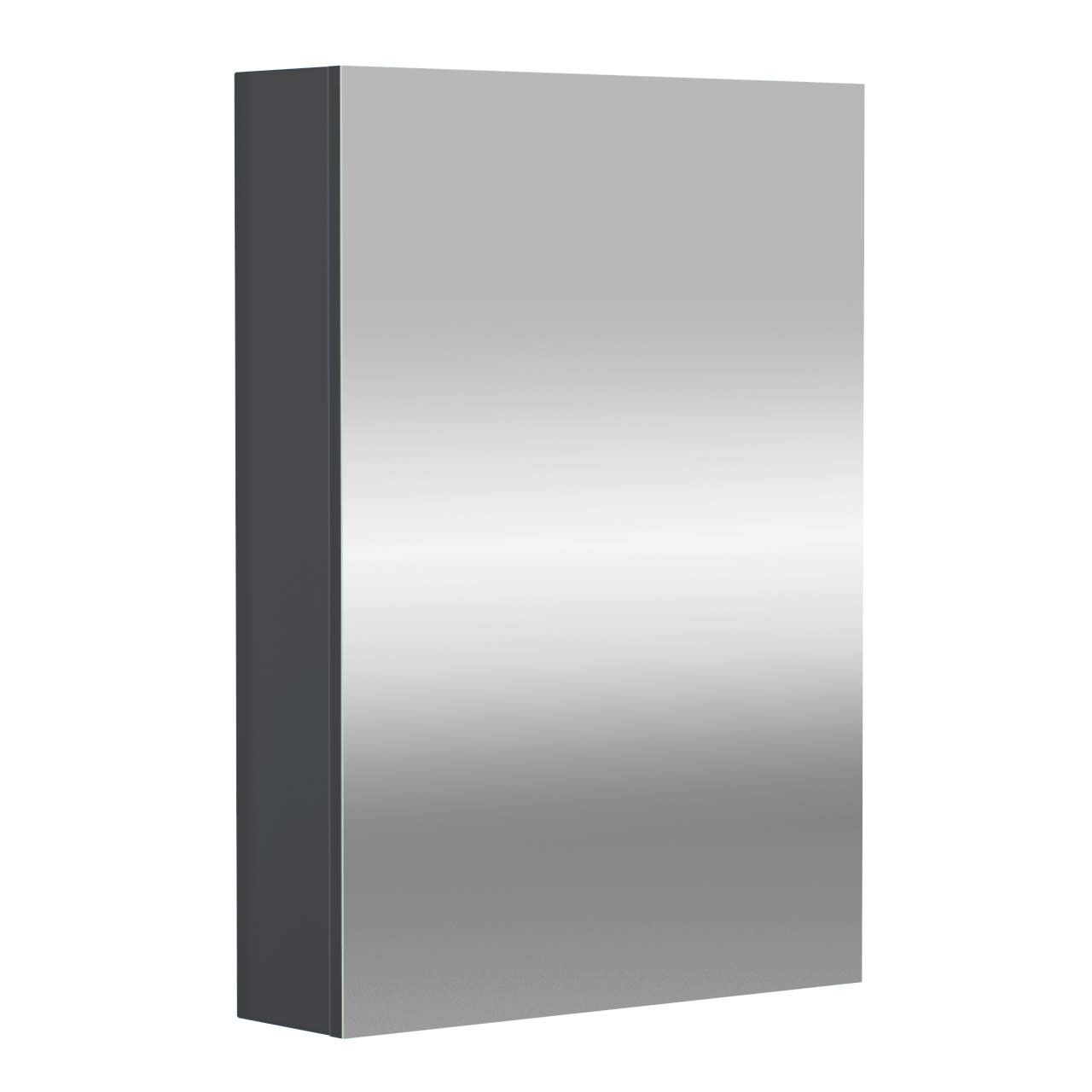 City Grey Gloss 500mm Mirror Wall Cabinet