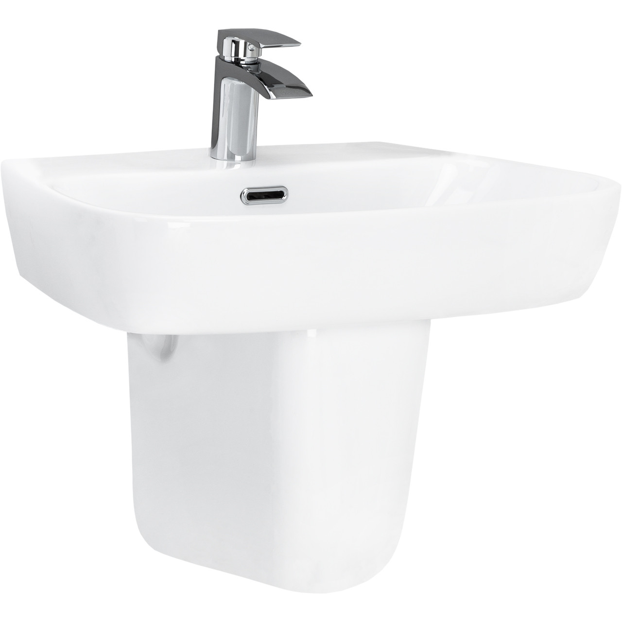 Club 600mm Basin & Half Height Pedestal