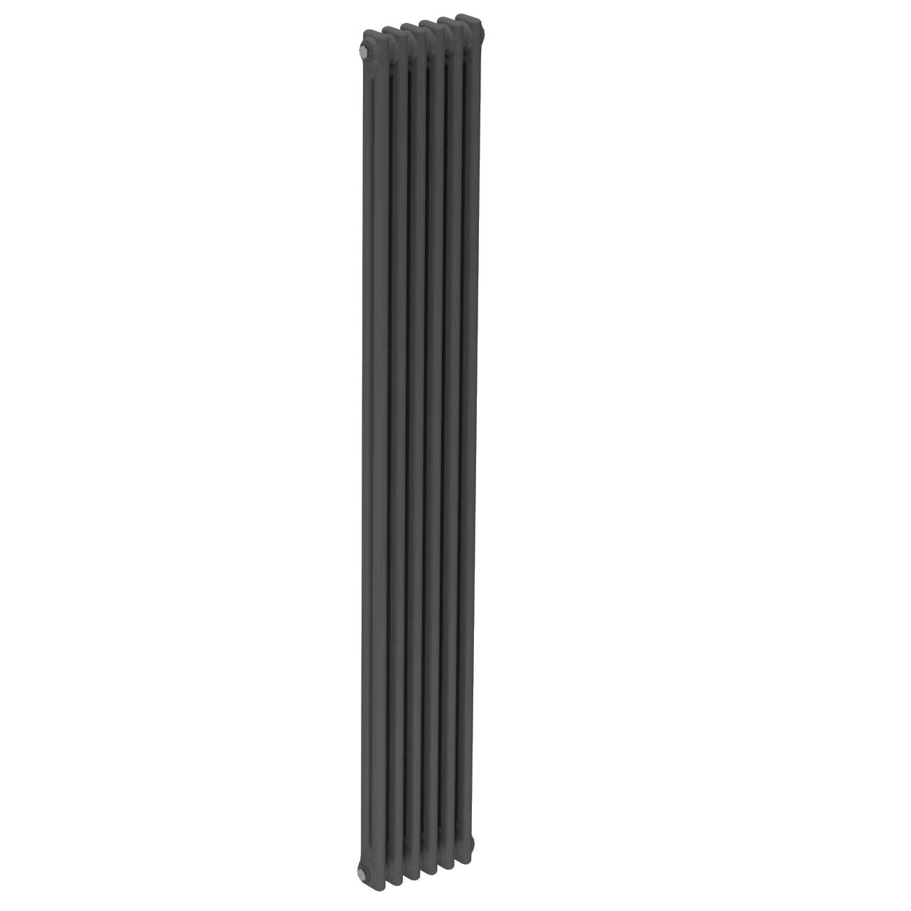 Colosseum Anthracite 1800mm x 284mm Vertical Double Panel Radiator