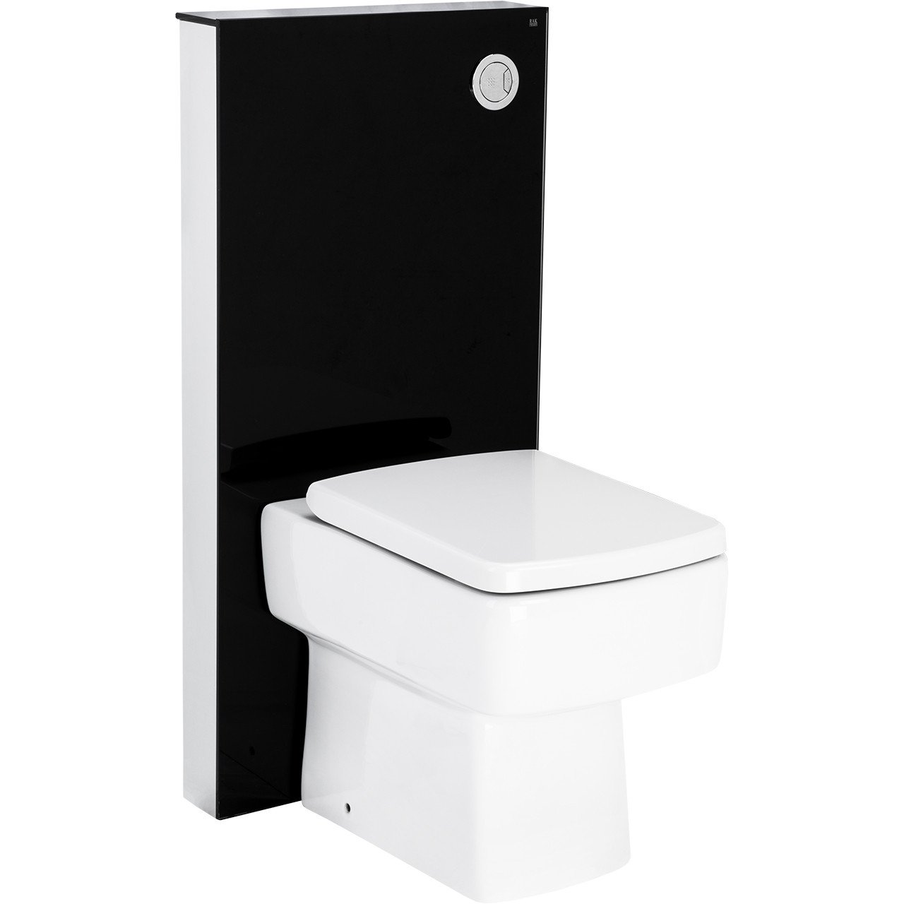 Crystal Obelisk Floor Standing Cistern Cabinet for BTW Pan in Black