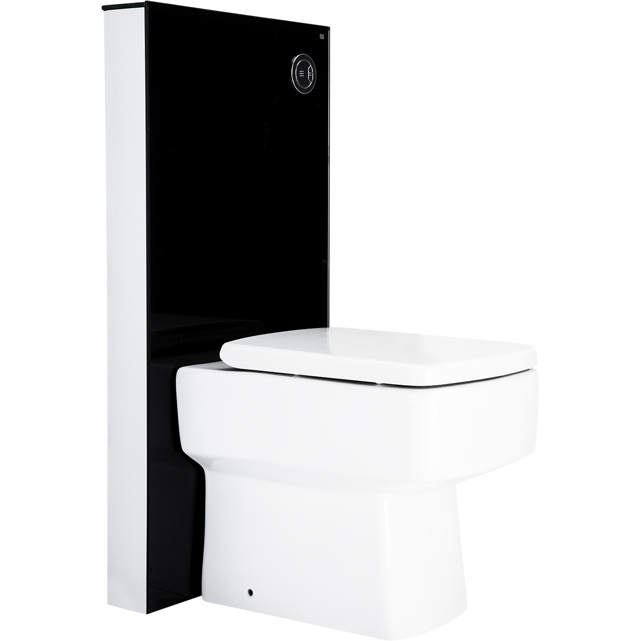 Crystal Obelisk Floor Standing Cistern Cabinet for BTW Pan in Black Side