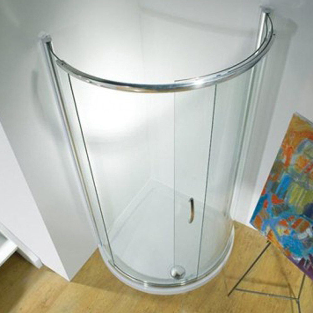 Kudos Infinite Semi-Frameless Curved Slider Centre Access 910mm Silver 4CD91S