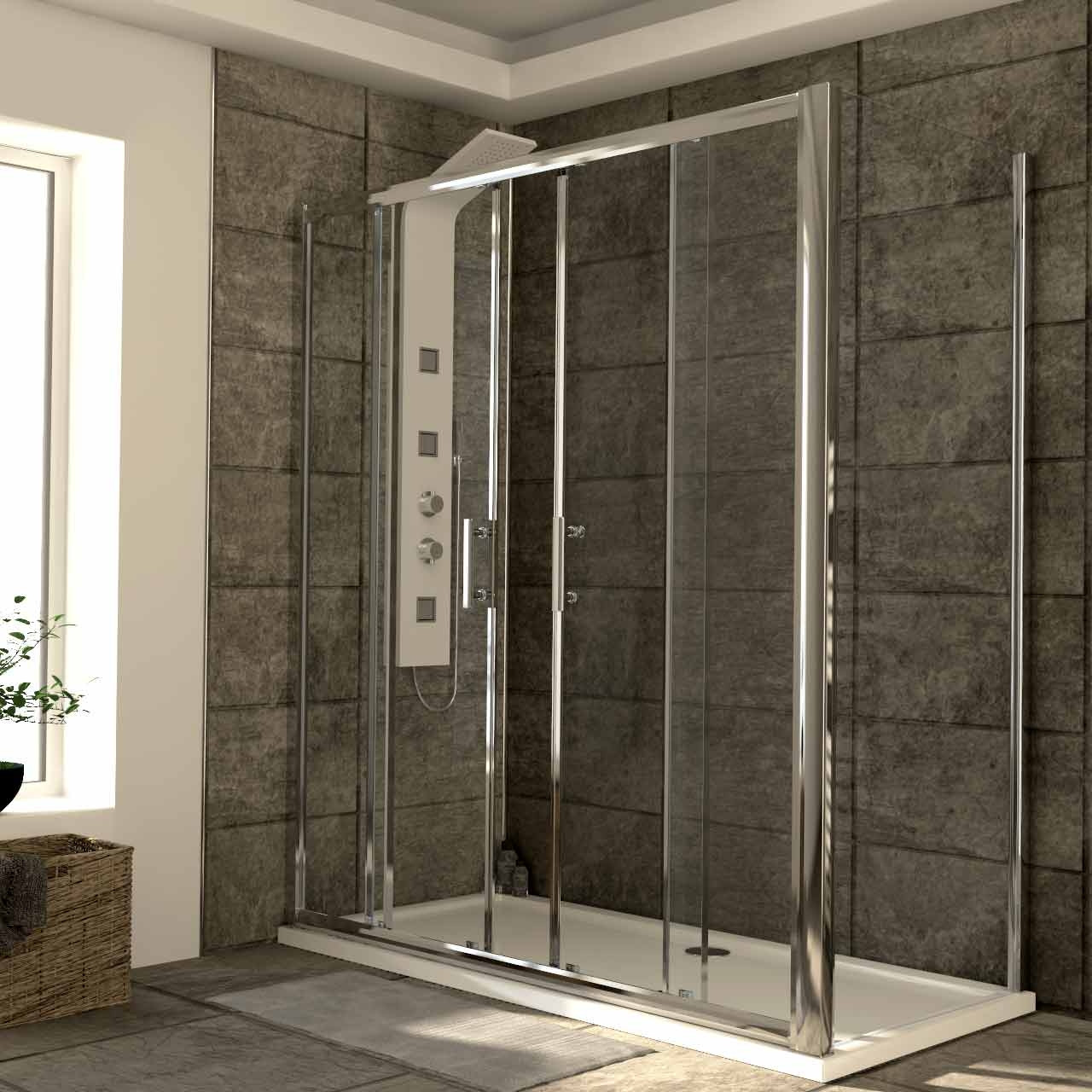 Series 6 1700mm x 800mm Double Sliding Door Shower Enclosure
