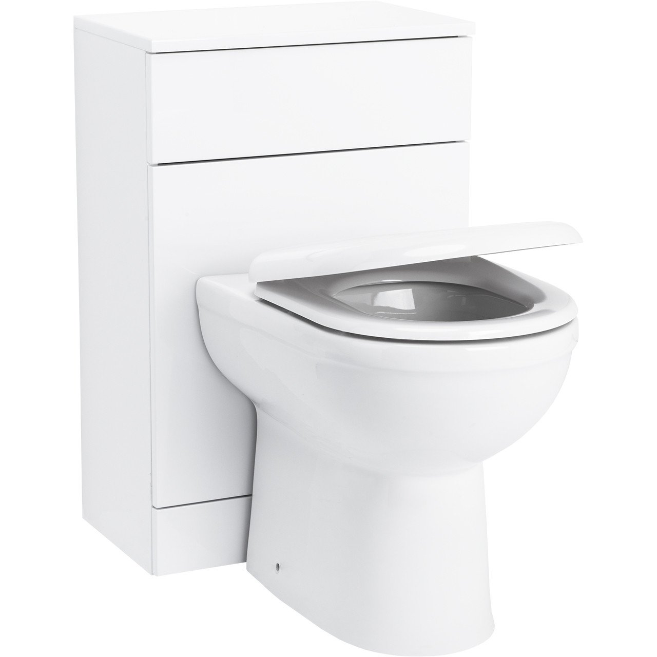 Alexander James 500mm x 300mm Toilet Unit & D-Shaped Back to Wall Pan