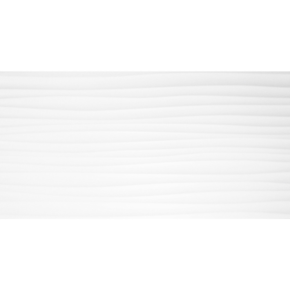 Form Wave White Gloss Field 24.8x49.8 Ceramic Tile